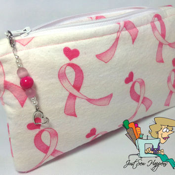 Breast Cancer Awareness Makeup Bag Cosmetic Bag Gadget Bag