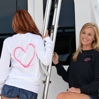 heart hook fishing clothing long sleeve fishing shirt hearthook sporty girl clothing