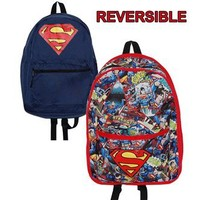 Superman Reversible All-Over Print Baackpack | Animation Shops