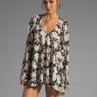 For Love & Lemons Daytripper Dress in Black Floral from REVOLVEclothing.com