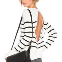 Lovers + Friends Bright Sea Sweater in Black Stripe