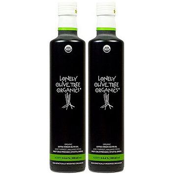 Lonely Olive Tree Organic Extra Virgin Olive Oil 500ml - 2-Pack