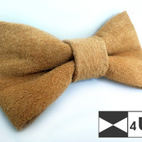 Leather Bow Tie Bowtie Black Ivory Beige Real Suede Necktie Fancy Special Wedding Bow Tie Groomsmen Bow Tie Man Men Lady Dickie Bow Gift