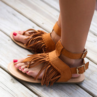 Mata Hari Whisky Fringe Sandals