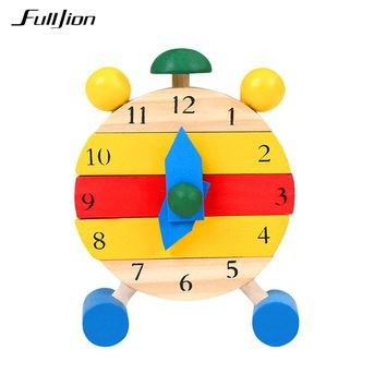 Fulljion Puzzle Wooden Clock DIY Learning Educational Toys For Children Jigsaw Math Montessori Tangram Maze 3D Puzzle Teaser Toy