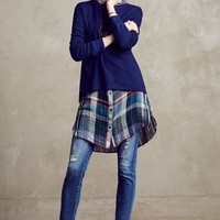 Seaboard High-Low Sweatshirt by Left of Center Navy
