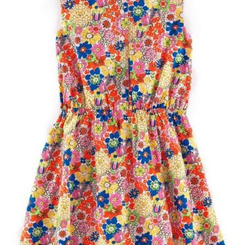 Girl's Johnnie B by Boden Floral Print Sleeveless Dress,
