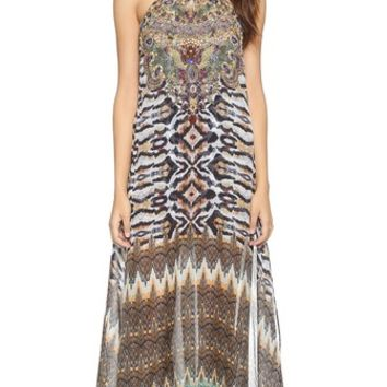 Camilla Long Sheer Overlay Dress