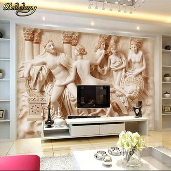 beibehang Abstract Art Mural Wallpaper papel de parede 3d Stereo Relief Sculpture Photo Wall paper Hotel Living Room TV Backdrop