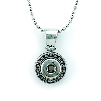 Fashion Retro Interchangeable Pendants Necklace For 12mm Snap Button Necklace For Men Jewelry