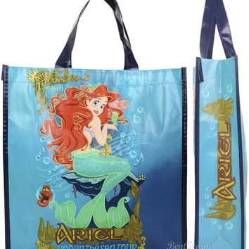 Licensed cool NEW Little Mermaid Ariel Under Sea Tour Large Tote Reusable ECO Grocery Gift Bag