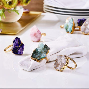 Geode Napkin Ring Set