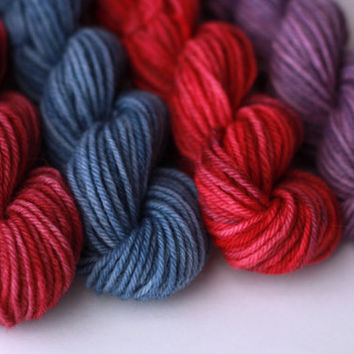 Caravan - Worsted Wool Mini Skein Set - four 55 yd skeins - total 220 yds