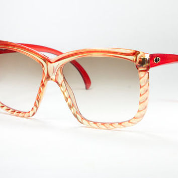 Christian Dior vintage detailed sunset colors oversize sunglasses NEW from deadstock