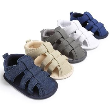 Boys Soft Baby Toe Cap Covering Beach Sandals