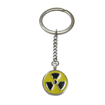 Radioactive Sign Pendant Keychain