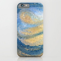 """Blue and Tan Mosaic Abstract Phone Case, """"Ocean Wave"""" iphone 6, 5, Samsung S6, S5, island, cases, protective, gadgets, tech"""