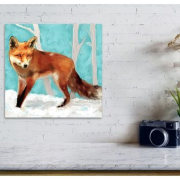 Red Fox - Fabric Poster Print 222