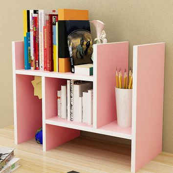 Desktop Multi-Layers Small Wood Storage Bookshelf Room