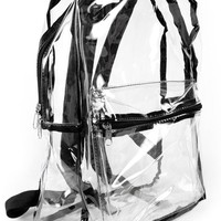 crystal clear view Backpack
