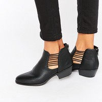 London Rebel Cut Out Ankle Boots at asos.com