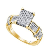 Diamond Micro Pave Ring in Sterling Silver 0.31 ctw
