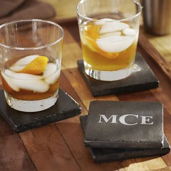 DARK STONE DRINK COASTER, SET OF 4