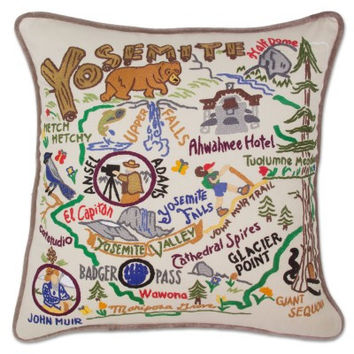 Yosemite Hand Embroidered Pillow