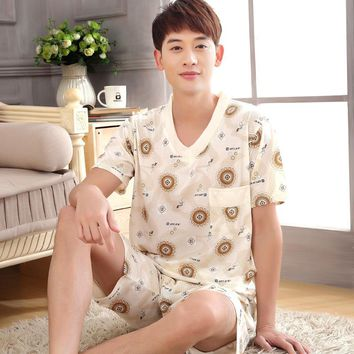 Men's Two-Piece Short-Sleeve Lightweight Pajama Set