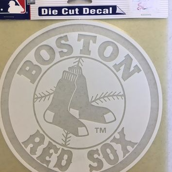 BOSTON RED SOX WHITE CAR WINDOW DECAL GREAT HOLIDAY GIFT SHIPPING