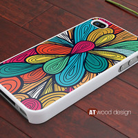 iphone 4 cases iphone 4s case iphone 4 cover abstract colorized  flower graphic design printing