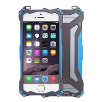 iVAPO iPhone 6 case (Only for 4.7inch), [Metal Series] Premium [Hard Aviation Aluminum] Case, Ornate Armor Outdoor Sport [Drop Resistance] Phone Protector--Retail Packaging, Metal Case For iPhone6 (MM552) (Blue)