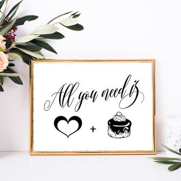 Cake and cupcake stand table decor, Wedding cake table decorations, Cake print, Cake sign printable, Cupcake sign, Elegant cake table decor