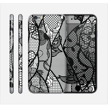 The Black and White Lace Design Skin for the Apple iPhone 6