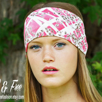 Yoga Headband, Wide boho headband, Womens Fashion Headband, Stretch fabric Headband, Boho headwrap, Workout headband, Ladies headband
