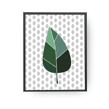 Winter Leaf Print, Children Education, Plant Poster, Classroom Art, Nursery Decor, Leaf Illustration, Kids Print, Botanical Art, Kids Decor