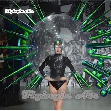 Catwalks Stage Props Walking Inflatable Costume Blow Up Walking Thorn Bubble Ball Costume For Party And Fashion Show (color-01)