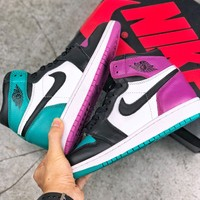 [Free Shipping ]Air Jordan 1 OG Bred Toe AJ1 Basketball Sneaker