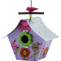 Retro Bird House Bloom Lavender