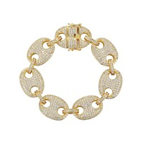 New Iced Out Designer Puff Gucci 18mm Bracelet