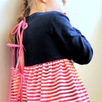 TShirt Dress for Girls - The Lulu Dress - French Style - Sizes for toddlers and girls from 1T to 5Y