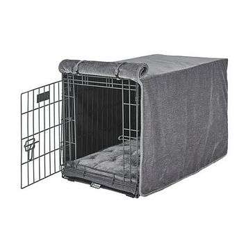 MicroVelvet Luxury Dog Crate Cover — Pumice