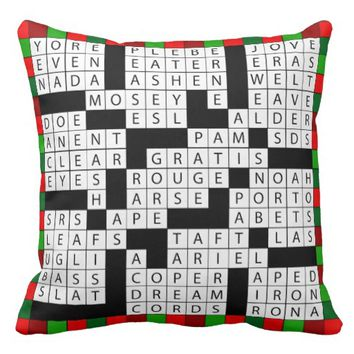 Crossword Puzzle Design on Throw Pillow