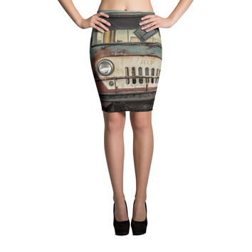 Jeep Thing Sublimation Cut & Sew Pencil Skirts