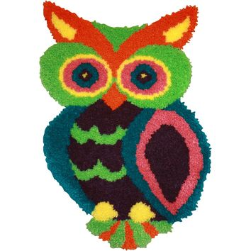 "Owl Shaped Latch Hook Kit 18.5""X27"""