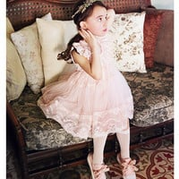 Chrislyn Lace Dress - Cream, Pink