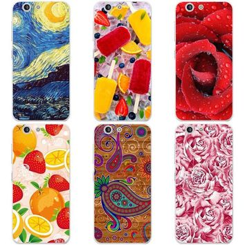 "Luxury Printing Case For ZTE Blade A512 A 512 Z10 Z 10 5.2"" Art Printed Flower Cell Phone Cover Rose Funda Cute Animal Coque"