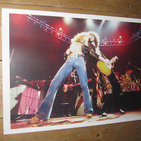 Led Zeppelin  Robert Plant Jimmy Page on Stage POSTER