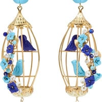 Of Rare Origin - Lovebirds gold vermeil multi-stone earrings