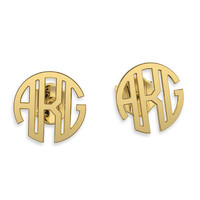 Monogram earrings- Gold 14K Personalized Name Earrings, gifts for bridesmaids, bridesmaid earrings